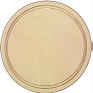Schinkenteller hell rund mit Rille aus Ahorn Durchmesser ca. 20 cm