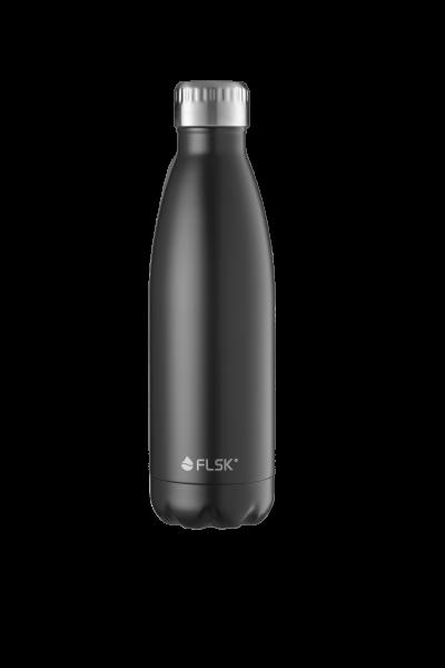 FLSK Trink- / Isolierflasche 500ml Black 18h warm oder 24h kalt