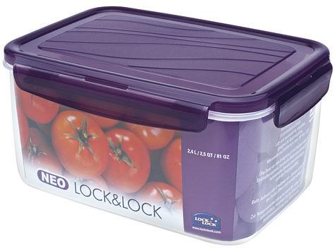 Lock & Lock ZZF131V NEO rechteckig violett 2,4l