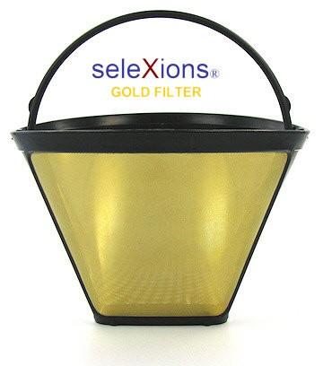 seleXions Kaffeefilter Gold, für 6-12 Tassen, mit Füllstandsanzeige