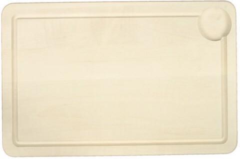 Tranchierplatte – hell mit Rille 60 x 40 x 2 cm