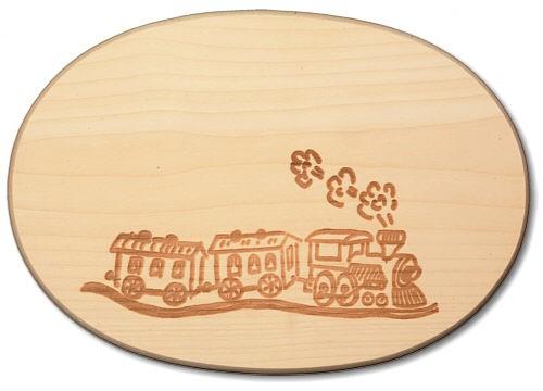 Schinkenteller oval Lokomotive ca. 18 x 26 x 1,4 cm