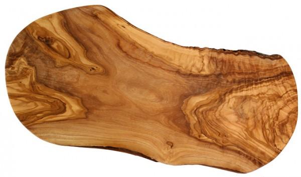 Olivenholz Schneidbrett Naturschnitt ca. 50 - 54 cm lang, 2 cm stark
