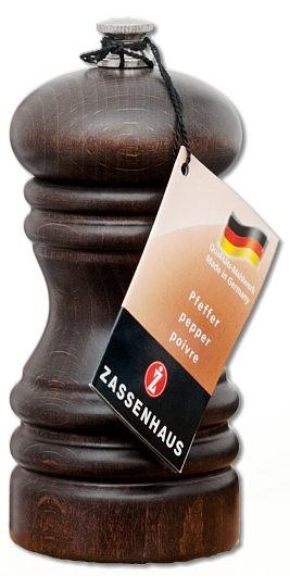 """Zassenhaus Pfeffermühle """"Berlin"""" Buche dunkel gebeizt 12 cm"""