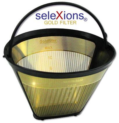 seleXions Scala Kaffeefilter Gold für 6-12 Tassen, mit Maßeinteilung