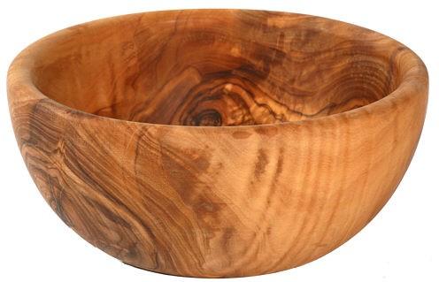 Olivenholz Schale / Schüssel für Salat, Obst, etc. – rund Durchmesser ca. 30 cm