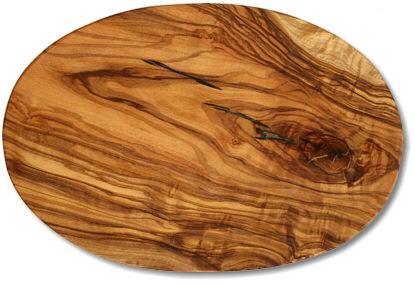 Schneidbrett oval Olivenholz ca. 17 x 25 x 1,2 cm