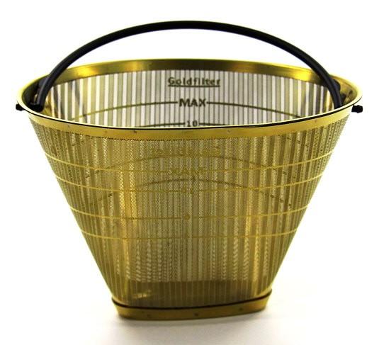 seleXions Scala Kaffeefilter Gold für 6-12 Tassen Ganzmetall
