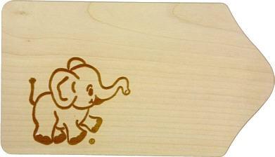Frühstücksbrett Elefant ca. 13 x 23 x 1 cm