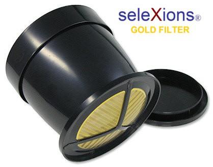 seleXions Eintassen-Kaffeefilter mit 23 Karat-Goldauflage