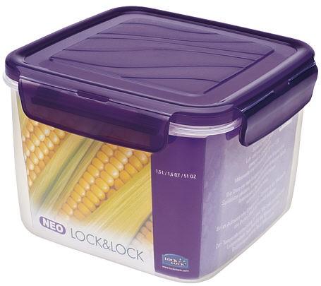 Lock & Lock ZZF211V NEO Quadratisch violett 1,5l