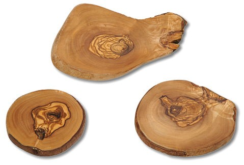 Minibrett Olivenholz Naturschnitt ca. 6-8 cm