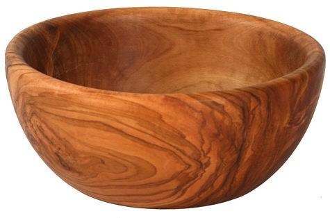 Olivenholz Schale / Schüssel für Salat, Obst, etc. – rund Durchmesser ca. 28 cm