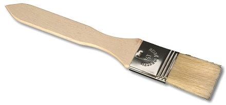 Backpinsel flach mit Holzgriff 1,5 Zoll ca. 20 x 3,5 cm