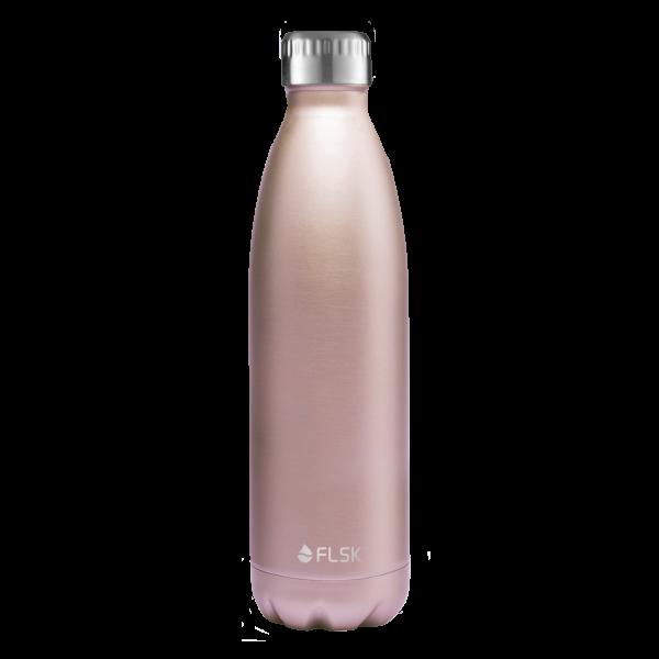 FLSK Trink- / Isolierflasche 750ml Roségold 18h warm oder 24h kalt