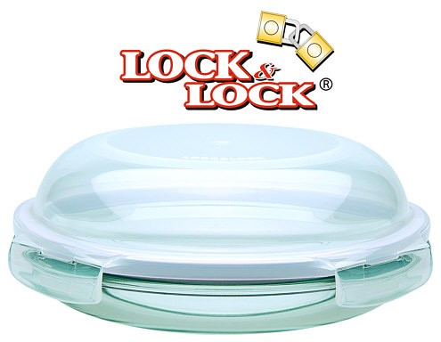 Lock & Lock LLG883 Boroseal Glas mit Kuppeldeckel 18 cm