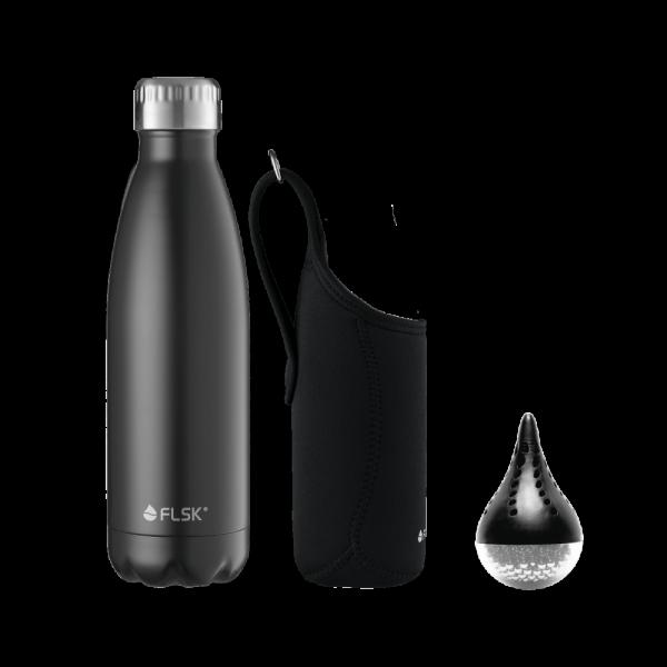 FLSK 3 in 1 SPARSET Flasche + Tasche + Reinigungsperlen - Freie Wahl