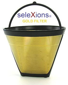 seleXions Kaffeefilter Gold, für 2-6 Tassen, mit Füllstandsanzeige
