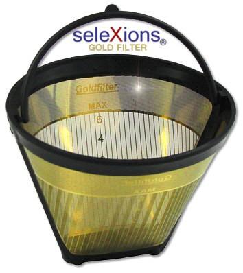 seleXions Scala Kaffeefilter Gold für 2-6 Tassen, mit Maßeinteilung