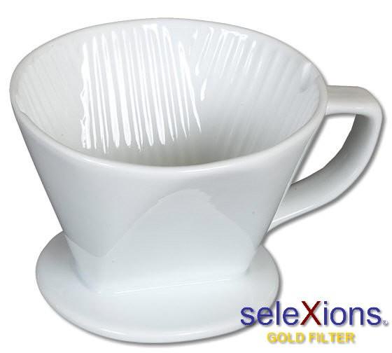 seleXions Kaffeefilter-Träger aus Porzellan für Filter Nr. 4