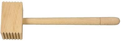 Fleischklopfer Holz 7 x 7 Zacken länge ca. 29 cm