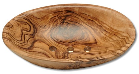 Seifenschale oval Olivenholz ca.15 x 9 cm