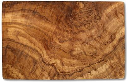 Schneidbrett rechteckig Olivenholz ca. 17,5 x 25 x 1,3 cm