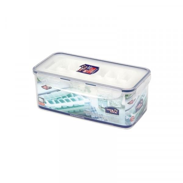 Lock & Lock HPP250S Frischhaltedose 3,4l mit 3 Eiswürfelbehälter für 36 Eiswürfel
