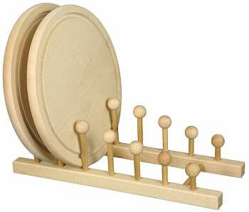 Teller-/Brettchenständer für 6 Stck. ca. 33 x 12 x 12 cm