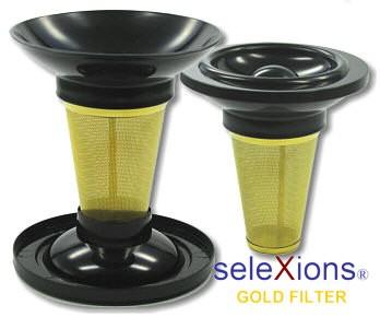 seleXions Teetassenfilter Gold, mit Tropfstop-Deckel