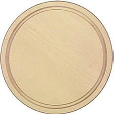 Schinkenteller hell rund mit Rille aus Ahorn Durchmesser 22 cm