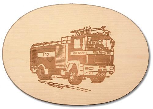 Schinkenteller oval Feuerwehr ca. 18 x 26 x 1,4 cm